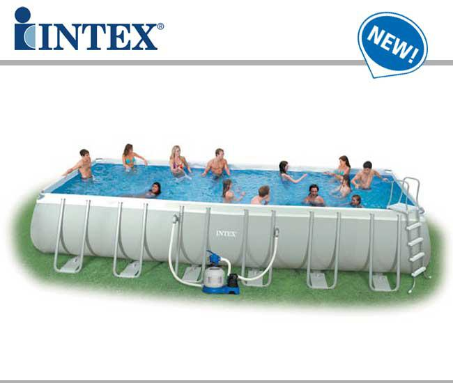 Intex 54988 piscina rettangolare ultra frame 975x488x132 for Intex accessori