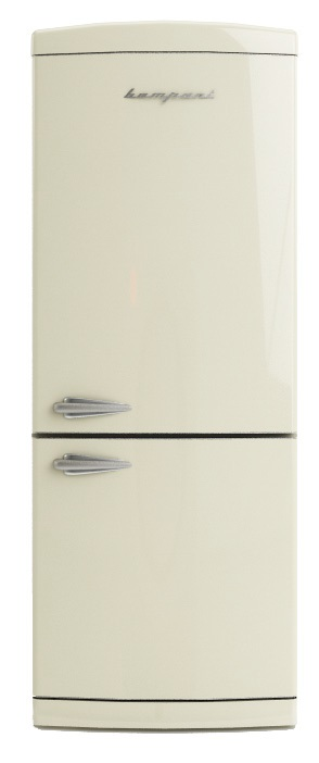 frigo retro 39 combinato bompani bocb740 c colore crema no. Black Bedroom Furniture Sets. Home Design Ideas